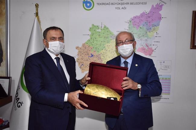 Veysel Eroğlu'ndan Başkan Albayrak'a Ziyaret