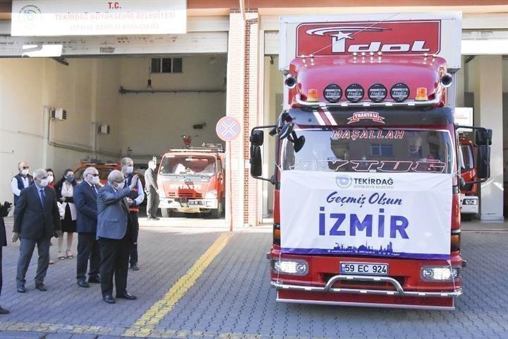 Tekirdağ'dan İzmir'e Yardım Tırı Yola Çıktı