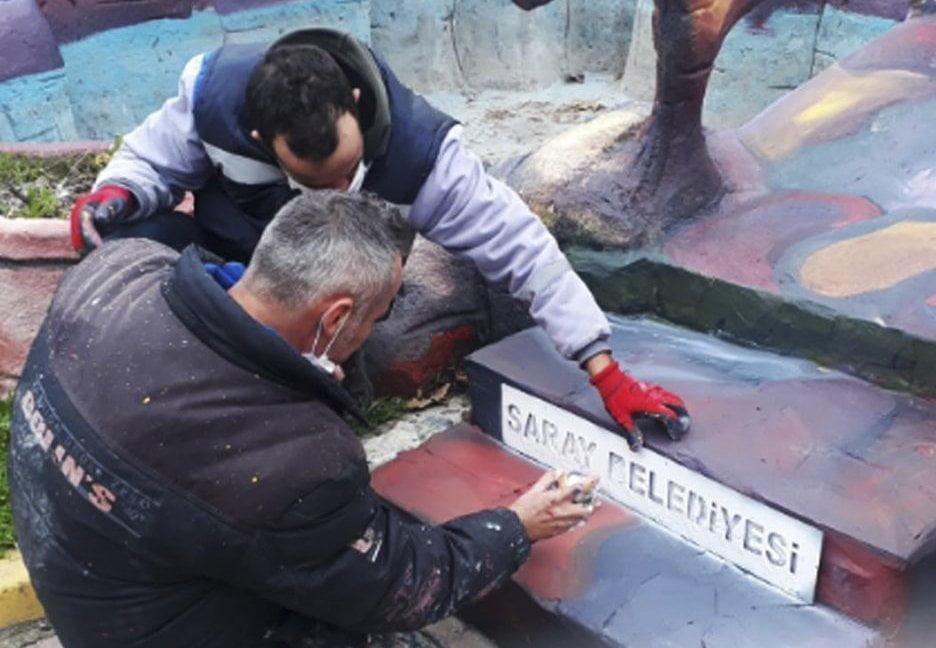 Saray Belediyesi Çevre Düzenleme Çalışmalarıyla İlçenin Görünümünü Yeniliyor