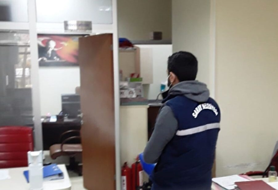 Saray Belediyesi Kovid-19'la Mücadele Çalışmalarına Devam Ediyor