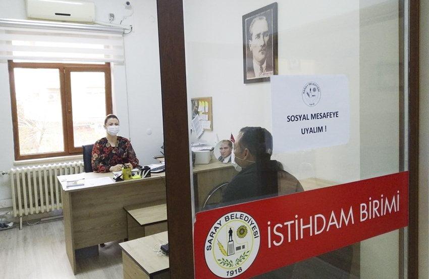 Saray Belediyesi Aralık'ta 70 Kişiyi Niteliklerine Uygun İşlerle Buluşturdu