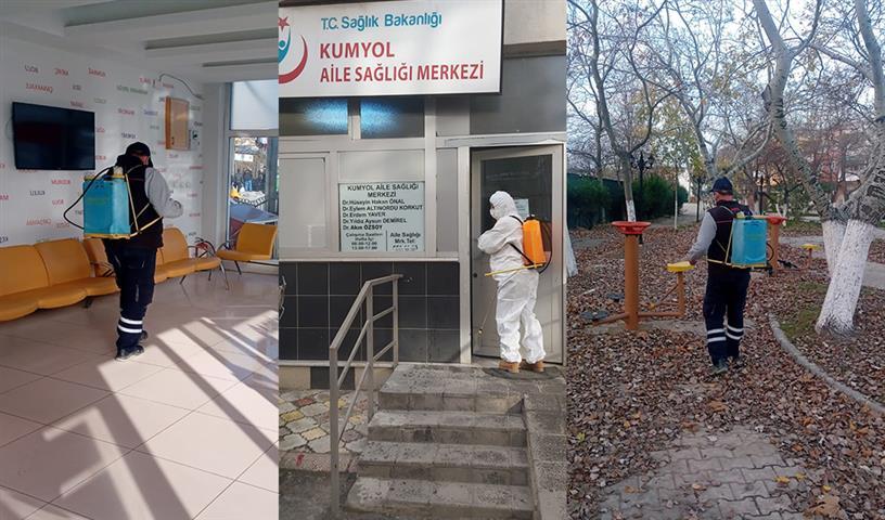 Büyükşehir Belediyesi Ekipleri Dezenfeksiyon Çalışmalarını Sürdürüyor
