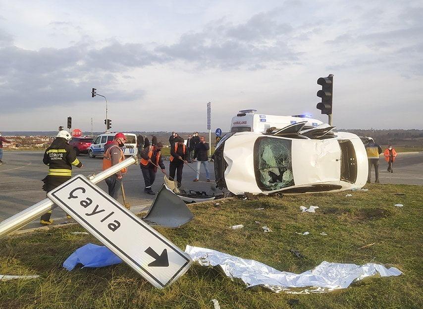 Saray'da trafik kazası: 5 Yaralı