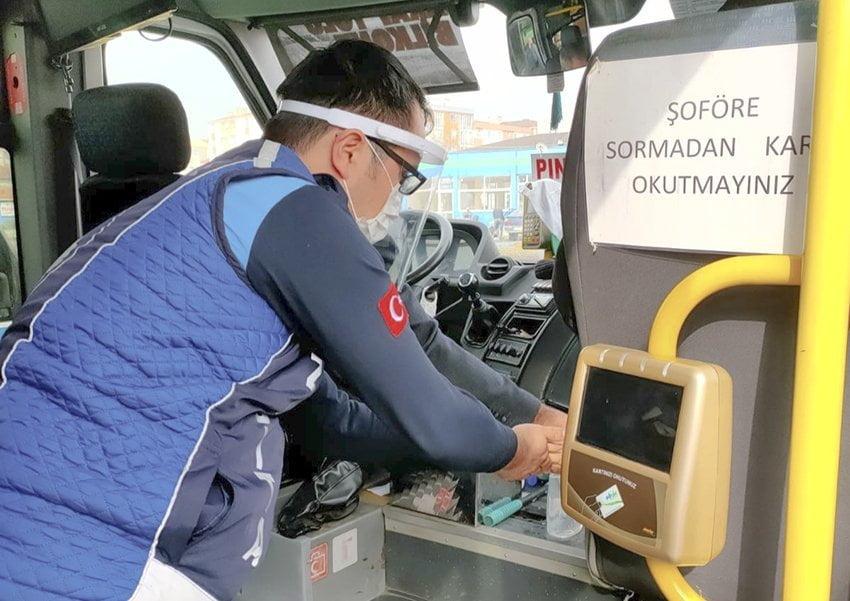 Toplu Ulaşım Araçlarında Hijyen Denetimi Sürüyor