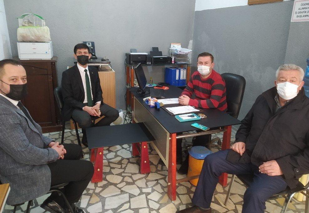 MHP İl Başkanı İlker Yücel Gazetemizi Ziyaret Etti