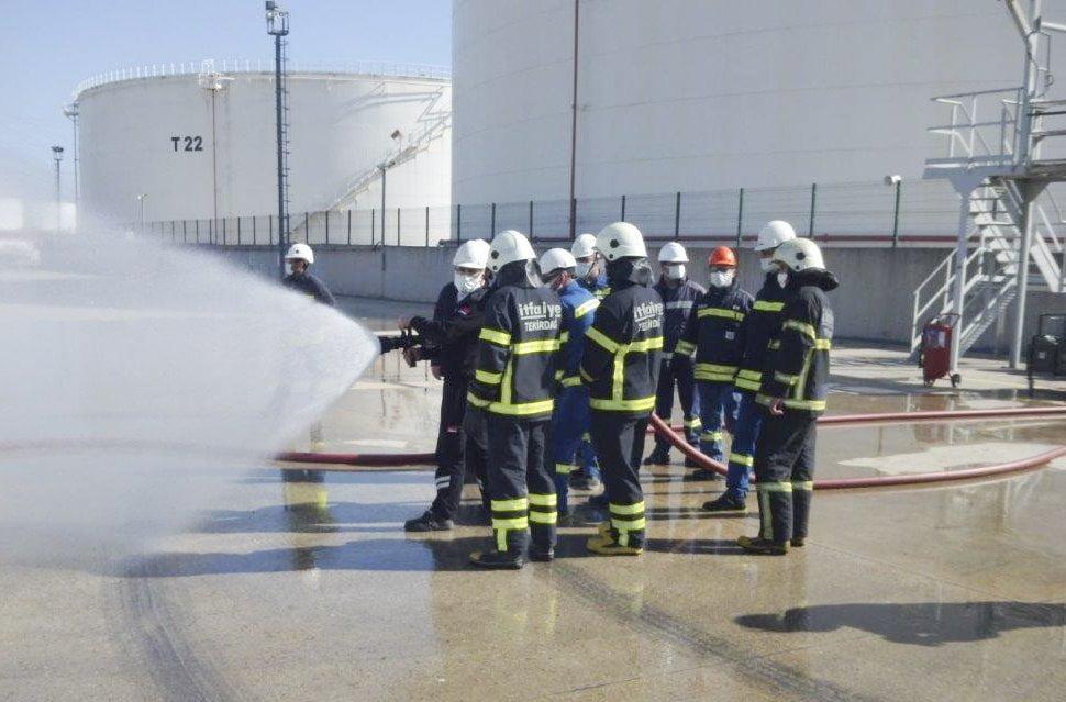Büyükşehir Belediyesi Yangın Söndürme Eğitimlerine Devam Ediyor