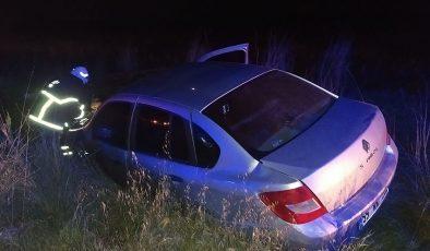 Otomobil elektrik direğine çarptı kaza ucuz atlatıldı