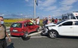 Saray'da trafik kazası: 1'i Ağır 5 Yaralı